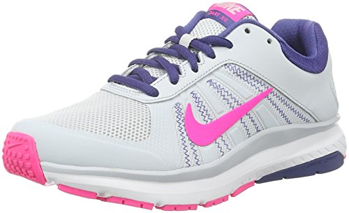 Nike Women's Dart 12 Running Shoes Pure Platinum/Pink Blast-Dark Purple DST 7