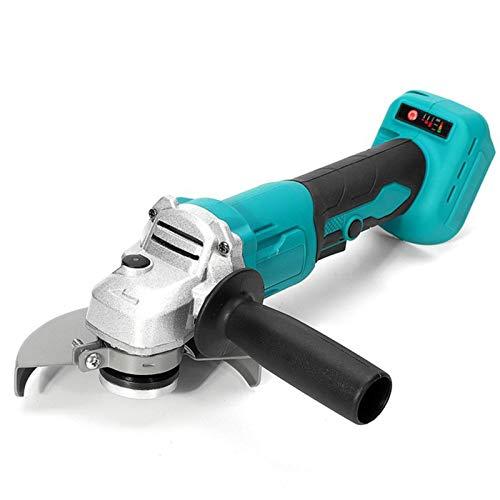 Ángulo eléctrico sin escobillas de 125 mm y 3 velocidades Amoladora Pulidora Inalámbrica Carpintería Pulido Herramientas eléctricas para cortar, moler, pulir,1 battery
