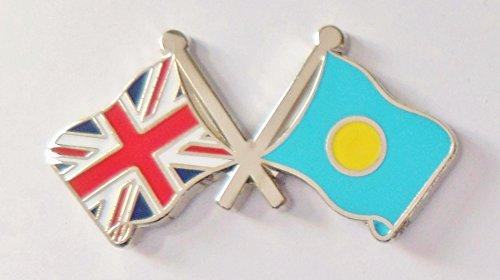 1000 drapeaux Palau et drapeau du Royaume-Uni