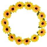 Lux Accessories Couronne de Cheveux Motif Tournesol Floral Jaune