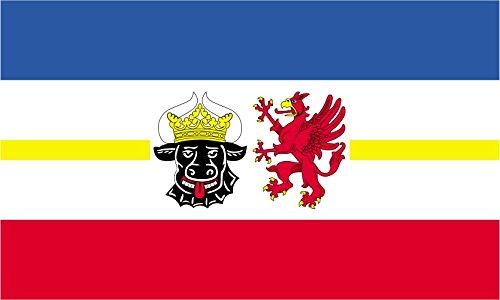 Kiwistar Aufkleber - Mecklenburg-Vorpommern - Bundesland Deutschland Autoaufkleber Flagge