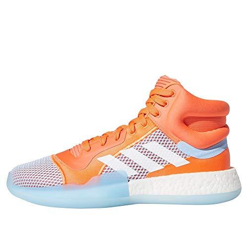 adidas Performance Marquee Boost - Zapatillas de baloncesto para hombre, color coral/azul, 11,5 UK - 46 2/3 EU - 12 US