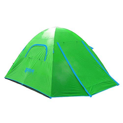 Himalaya Campingzelt Kuppelzelt Familienzelt 4 Personen HT401 mit Aluminiumgestänge - grün