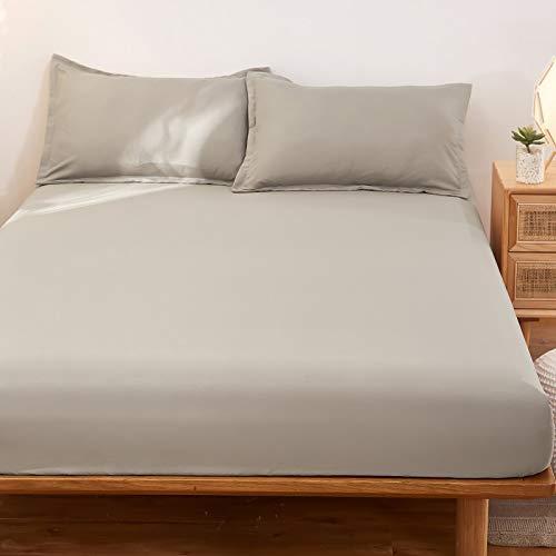 haiba Sábana bajera ajustable para cama individual, microfibra cepillada suave y resistente a las arrugas, 90 cm x 200 cm + 25 cm