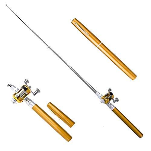 Draagbare Pocket Telescopische Mini Hengel Pen Vorm Gevouwen Hengel Lichtgewicht Reel Wiel Hengel Pen Tackle Pesca