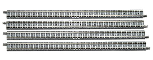 TomyTEC 010128 – Fine Track, Droite Rails, modèle ferroviaire Accessoires, par 280 mm, Lot de 4