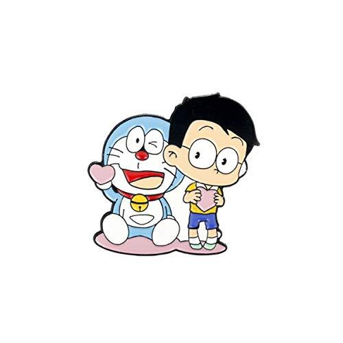 JiuErDP Roboter-Katze Netter Doraemon Big Brosche Cartoon-Charakter...