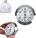 ETRVBSWE Puntero de Reloj de Enfermera en la Oscuridad, Reloj de Broche médico médico de Enfermera de atención médica