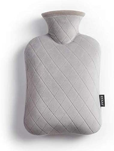 BYXAS Hot Water Bottle PVC 1 8 L Hot Water Bottle Hot Water Bag with Cover Ease Aches Pain Relief product image