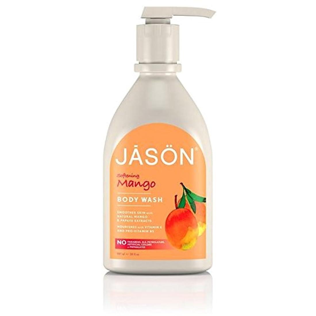 シリアル眉をひそめる吹雪Jason Mango Satin Body Wash Pump 900ml - ジェイソン?マンゴーサテンボディウォッシュポンプ900ミリリットル [並行輸入品]