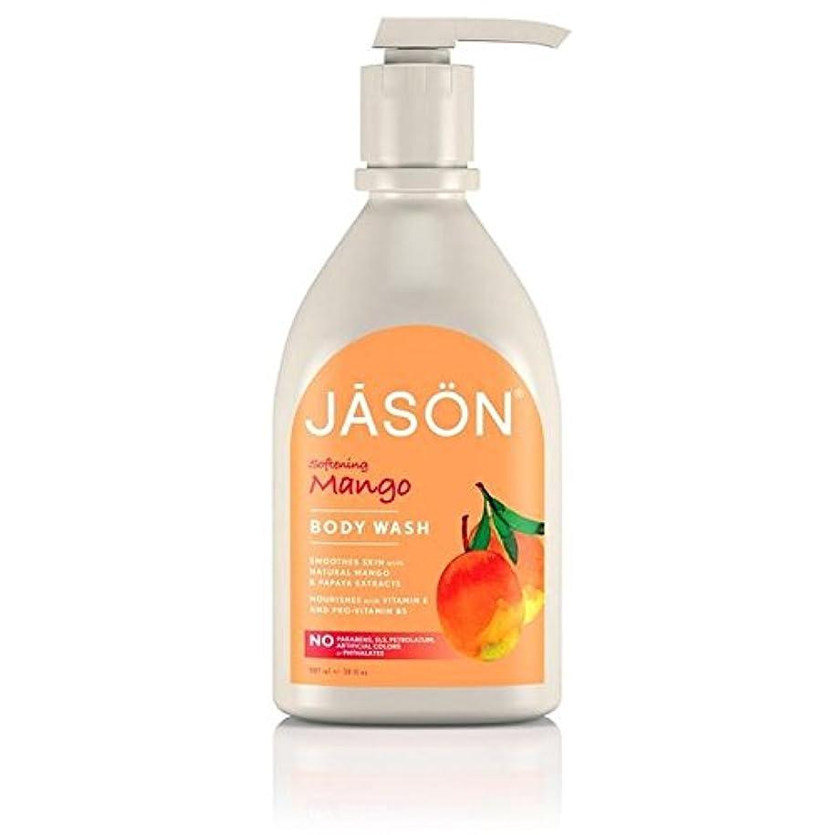 早いエレベーター小人Jason Mango Satin Body Wash Pump 900ml (Pack of 6) - ジェイソン?マンゴーサテンボディウォッシュポンプ900ミリリットル x6 [並行輸入品]