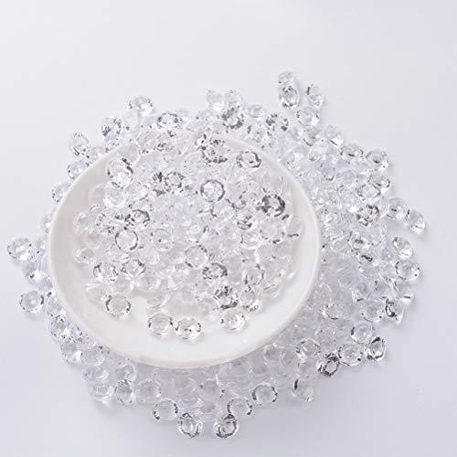 YANSHON 7500 Piccoli Cristalli a Forma di Diamante, per la Decorazione della Doccia di Nozze, Strass sparsi, Cristalli Decorativi Perline di vasi Sintetici, Cristallo Acrilico Diamante Scintillante