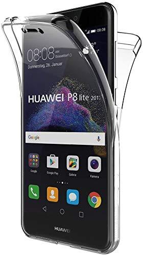 PHONE CONVERSE Funda Huawei P8 Lite 2017 Ultra Slim Doble Cara Carcasa Transparente 360 Silicona Resistente Anti-Arañazos para Huawei P8 Lite 2017