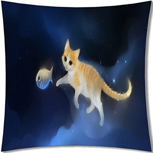 B-ssok High Quality of Lovely Cat Pillows 18X18 057