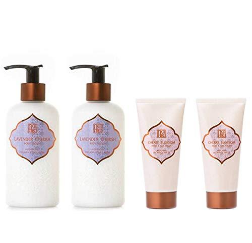 AKALIKO Lavender Cherish Body Lotion and Cherry Blossom Hand Cream - Set B.