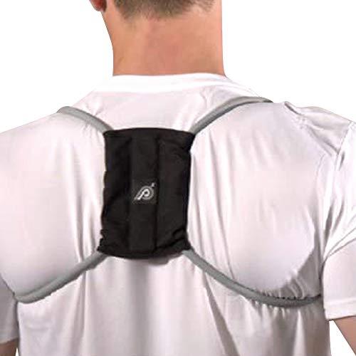 Posture Medic Dynamic Posture Brace for Neck, Upper and Lower Back - Long-Term Posture Correction Tool, Unlike Static Posture Correctors That Just Yank Shoulders Back, Large Plus Strength, Silver
