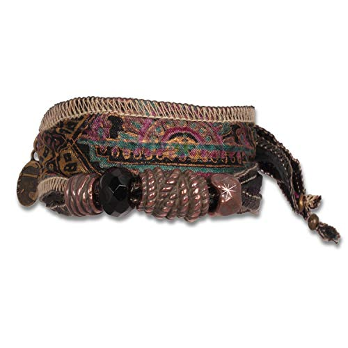 Anisch Hombre Herren Armband Indian Colors - Maharadsha Männer-Armband aus indischen Saris Maharadsha - ArtNr. 92200-b