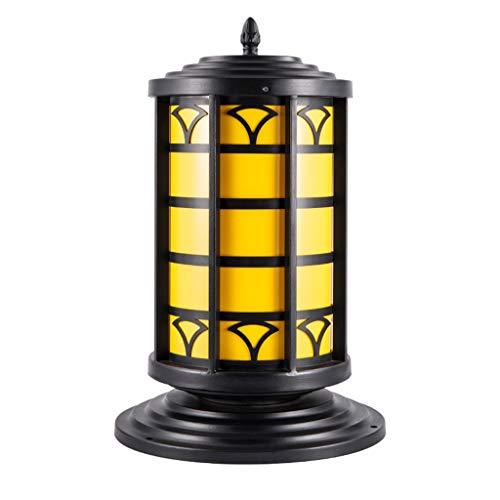 Solarverlichting, lampenkop, buitenzuil, wandlamp, van smeedijzer, huis, tuin, waterdicht, tuinvilla, palen