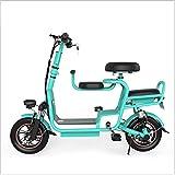 Scooter de Bicicleta Plegable de la Bicicleta eléctrica ZGYQGGOO con un Rango de 85 km, el Marco Plegable, la configuración de la Velocidad de la aplicación, el Mejor Amigo Entre Usted y su Hijo