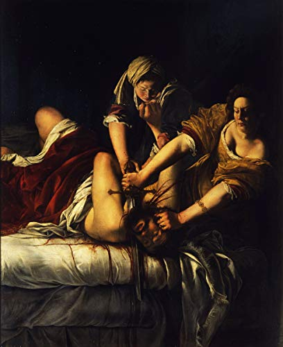Berkin Arts Artemisia Gentileschi Giclee Art Paper Print Art Works Paintings Poster Reproduction(Giuditta decapita Oloferne)