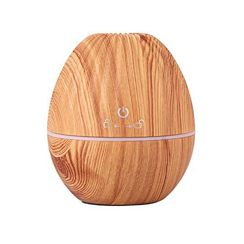 RONSHIN USB Rugby Form Luftbefeuchter mit Nachtlicht für Home Office Aufladen Leichte Holzmaserung