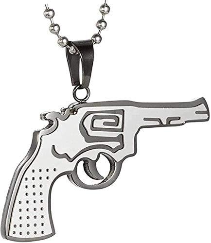 Yiffshunl Collar El Collar con Colgante Elegante Ak47 Collar con Colgante Simple y Elegante de Acero Inoxidable para Hombre