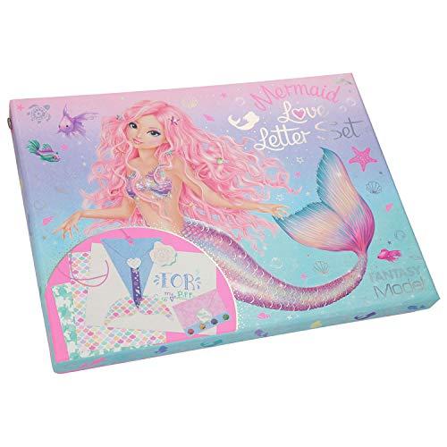 Depesche 11245 Love Letter Set, Fantasy Model Mermaid, mit viel Zubehör zum Basteln, ca. 26 x 19,5 x 3,5 cm