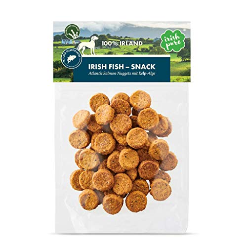 Irish Pure Atlantic Salmon Nuggets mit Kelp-Alge - Premium Fisch-Snack mit 94% Lachs, Training Hund, Getreidefrei, Hunde Kausnack Belohnung, Hundeleckerli, Gesunder Hundesnack - 150 g
