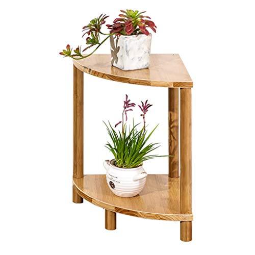 ChenDz Stand de fleurs en bois massif de style chinois salon intérieur pot de fleurs rack balcon antique bois multi-couche étagère à fleurs en bois de rose unique (Size : 30 * 40cm)