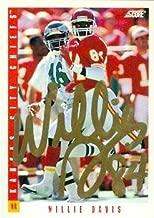 Willie Davis Autographed Football Card (Kansas City Chiefs) 1993 Score No.172