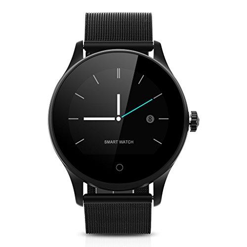 K88H Smartwatch Orologio Intelligente Fitness Tracker Chiamate/Messagi Reminder Pedometro,Nero ¡