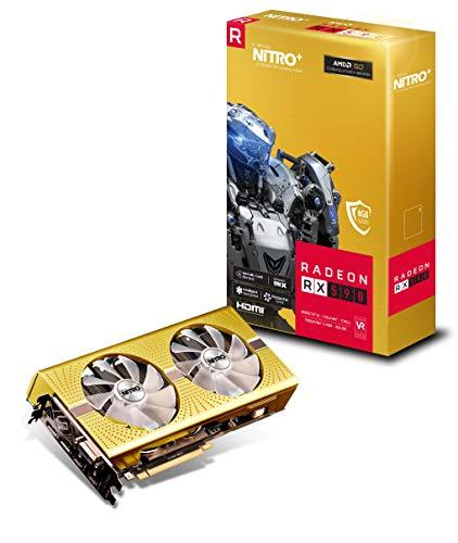 Sapphire Radeon Nitro+ Rx 590 8GB GDDR5 Dual HDMI/ DVI-D/ Dual DP OC w/ Backplate AMD 50th Anniversary Edition (UEFI) PCI-E Graphic Cards
