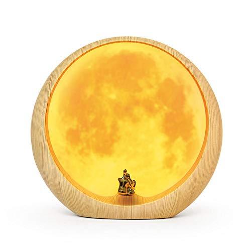 Liangsujiantd Flexo Led Escritorio, Lámpara de mesa de registro Creative Wooden Light, 3W, lámpara de oficina regulable con puerto de carga USB, recargable, luz nocturna, lámparas de mesa que cuidan l