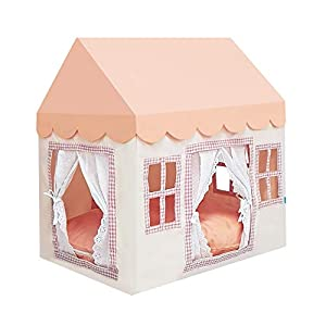 """PETITE MAISON Pet House - House for Dog, Cat, Kitty or Puppy, Small to Medium Sized, Handmade Indoor/Outdoor Kennel, 100% Aluminium Super-Light, Portable, 24"""" x 16"""" x 25"""", Petite House - Pink Cream"""