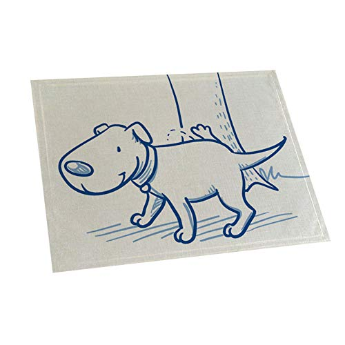 42x32cm Lovely Dog Print Antideslizante Aislamiento Térmico Placemat Cup Pad Decoración De Mesa Decoración del Hogar Suministros 6#