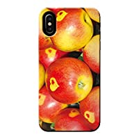 AQUOS zero5G basic DX SHG02 ケース 果物 リンゴ 林檎 フルーツ ポップ 薄型 スマホ ハードケース カラフル A アクオス C000402_01