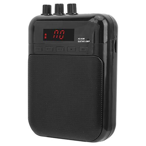 Amplificador de aroma, altavoz de guitarra de práctica con pedal de efecto de distorsión, metal ABS portátil para el hogar musical