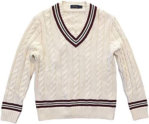 Polo Ralph Lauren Men's Iconic Cricket Sweater Cream (Small)