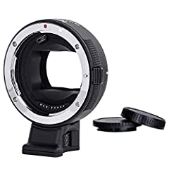 【Support Eye Auto-focus】 When connecting the A9, A7R or A7M3 cameras, the CM-EF-EHS can change the portrait photography mode to achieve eye auto-focus. This function equally effective during movement. 【AF Function&Aperture Control】Commlite CM-EF-EHS ...