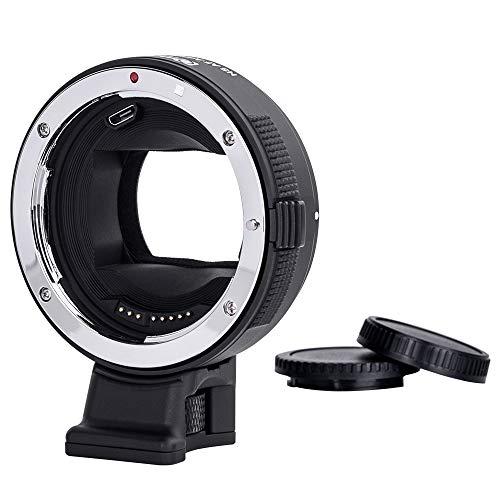 Commlite CM-EF-E HS EF/EF-S Lens para Sony E-Mount Adaptador electrónico de Lentes de Enfoque automático de Alta Velocidad para Sony A9 A7RII A7RIII A600 A6300 A6500(versión V22)