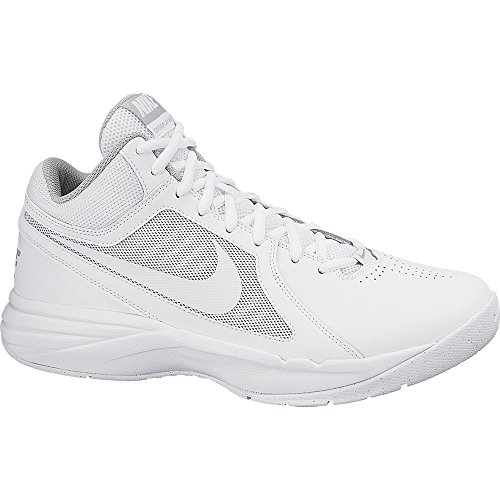 Nike The Overplay VIII Herren Basketballschuhe, Weiß (White/White-Metallic Silver), 44.5 EU