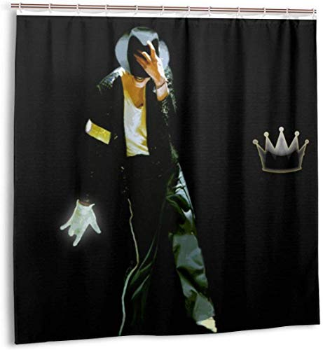 milkcolor Michael Jackson Duschvorhang Liner wasserdichtes Polyestergewebe Badezimmer Duschvorhang Duschvorhang 12 Haken 72 x 72 Zoll