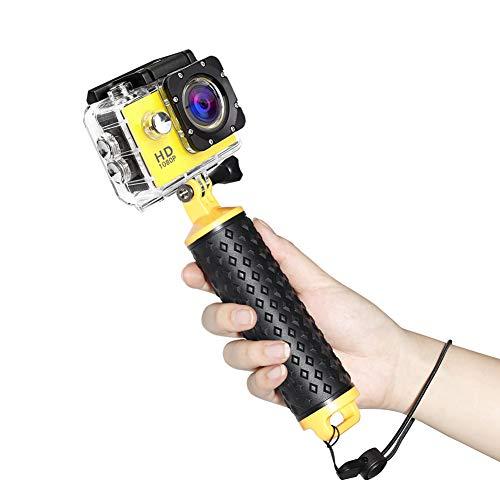 Coolwill Schwimmender Handgriff 100% Versiegelt wasserdichte Griff Floaty Handler kompatibel mit GoPro Hero 8 Schwarz, Hero 7 Schwarz/Silber Fusion, DJI Osmo und Andere Action-Kameras