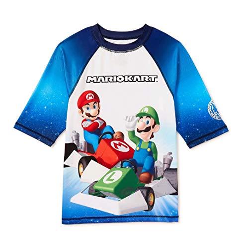 Isaac Morris Camiseta de manga corta para niño Mario Kart, Blanco brillante, 8