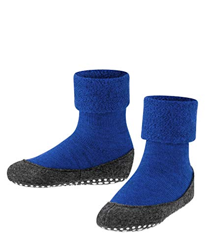 FALKE Unisex Kinder Hausschuh-Socken Cosyshoe, Schurwolle, 1 Paar, Blau (Cobalt Blue 6054), 27-28 (3.5-4 Jahre)