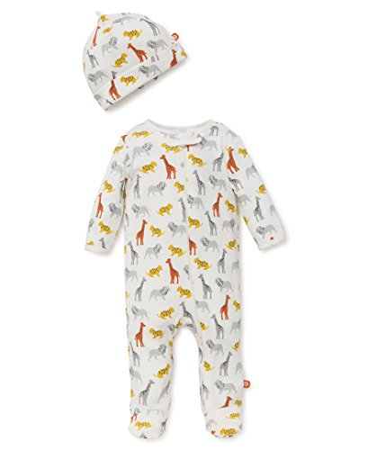 OffSpring - Baby Apparel Boys' Newborn Footie, Safari Fun, 3M