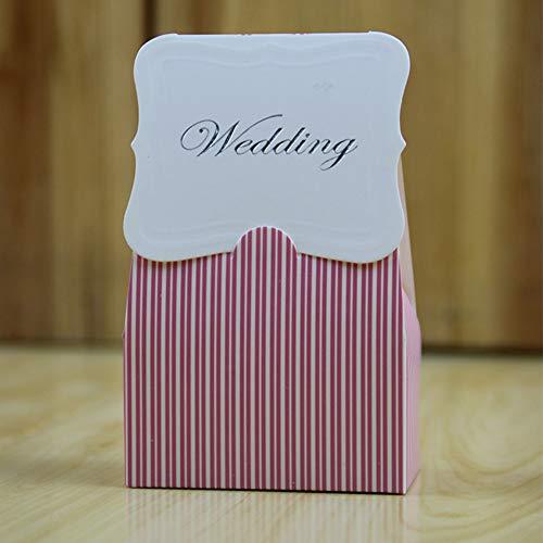 Yiwa 50 stuks/doos voor snoepjes, voor bruiloften, blauwe vlekken, roze