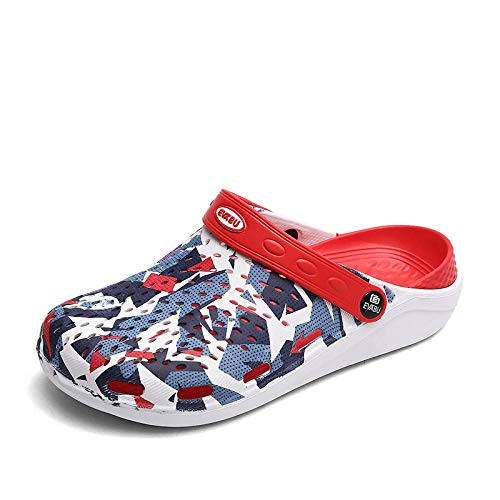 Chanclas Unisex Zapatos De Agujero Verano Nuevos Hombres Zuecos Sandalias Eva Zapatillas De Playa Ligeras Antideslizante Mula Hombres Mujeres Jardín Zuecos Zapatos Casual F Ch