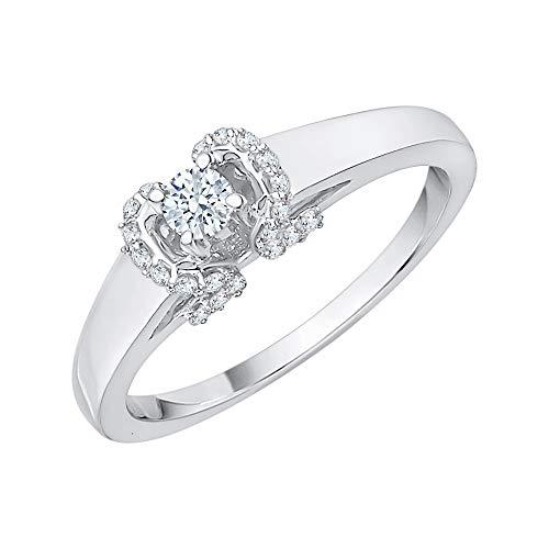 KATARINA Anillo de compromiso de diamantes en oro de 14 quilates (1/4 cttw, J-K, SI2-I1)
