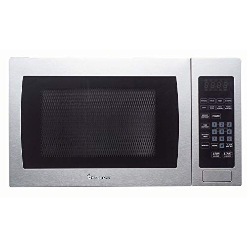 Magic Chef Cu. Ft. 900W Countertop Oven with Stainless Steel Front MCM990ST 0.9 cu.ft. Microwave, 9